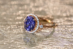 Mantle's Hearth Tanzanite December Birthstone Ring