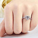 Magnificent Clear Heart December Birthstone