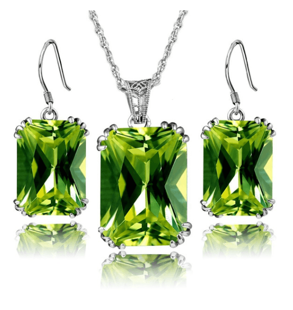 Leaf Queen Peridot August Birthstone Set