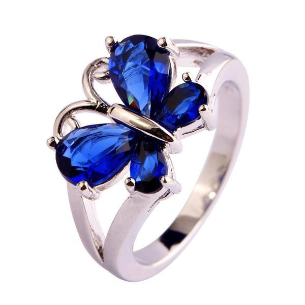 Beauteous Butterfly Sapphire September Birthstone