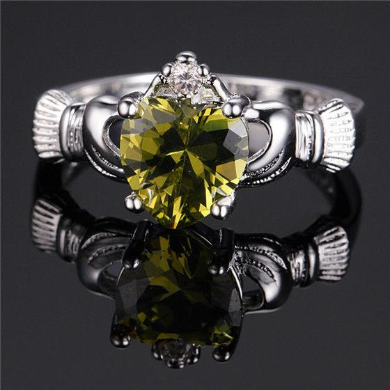 Olive Leaf Peridot August Birthstone