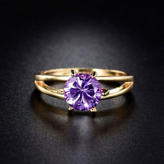 Gold Princess Amethyst February Birthstone