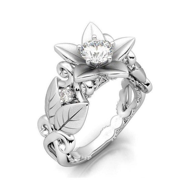 White Orchid Diamond April Birthstone