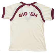 gig 'em shirt, vintage texas A&M shirt, retro A&M texas tee, texas aggies clothing, texas aggie fashion, texas aggie girl style,