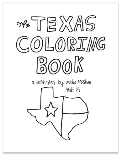 TEXAS COLOR BY NUMBERS BOOK