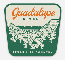 guadalupe river sticker, texas river sticker, float river sticker, tubing texas sticke,r comal river