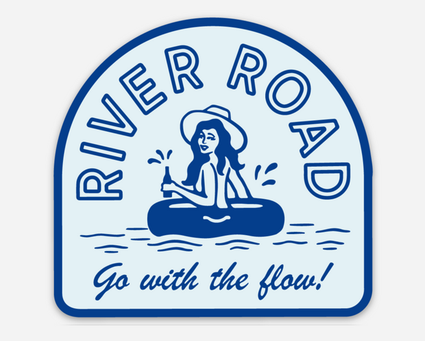 GO WITH THE FLOW STICKER 1