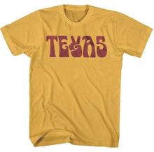 PEACE TEXAS T-SHIRT | MUSTARD