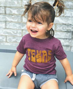 PEACE TEXAS KIDS T-SHIRT | PURPLE