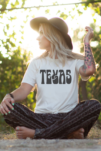 PEACE TEXAS T-SHIRT | NATURAL