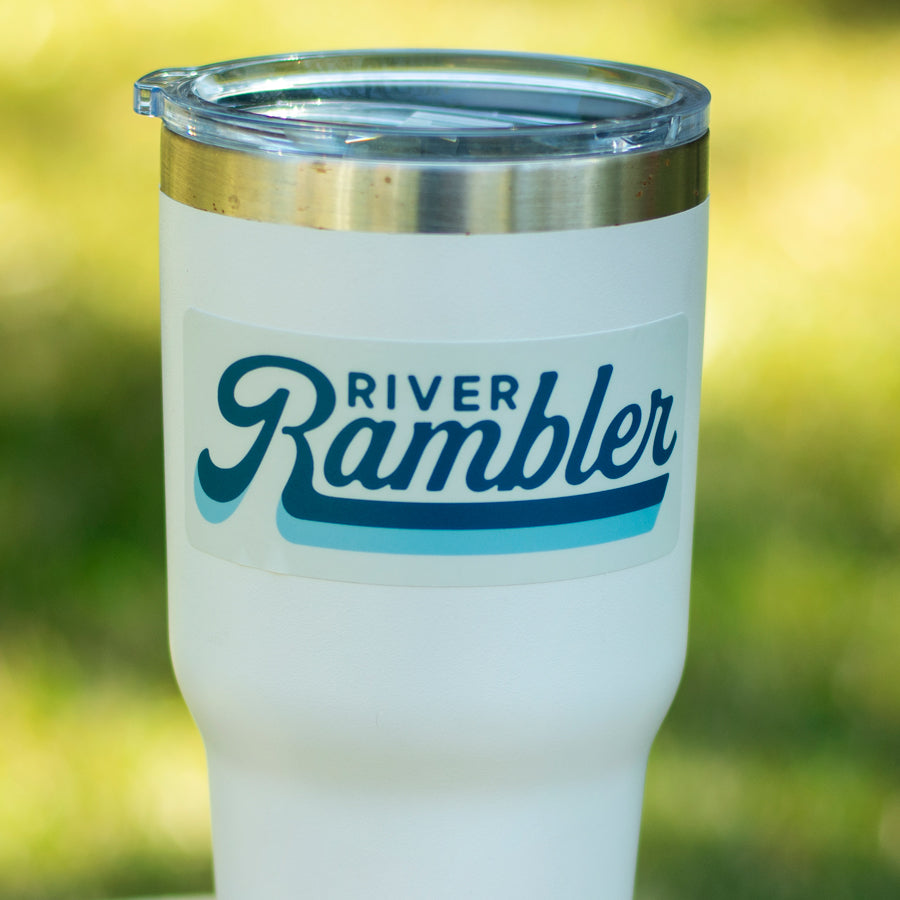 RETRO RIVER RAMBLER STICKER