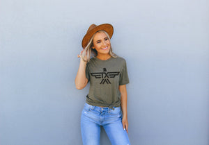 RIVER ROAD T-SHIRT | OLIVE