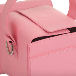 DUMBO Pink Leather Top Handle