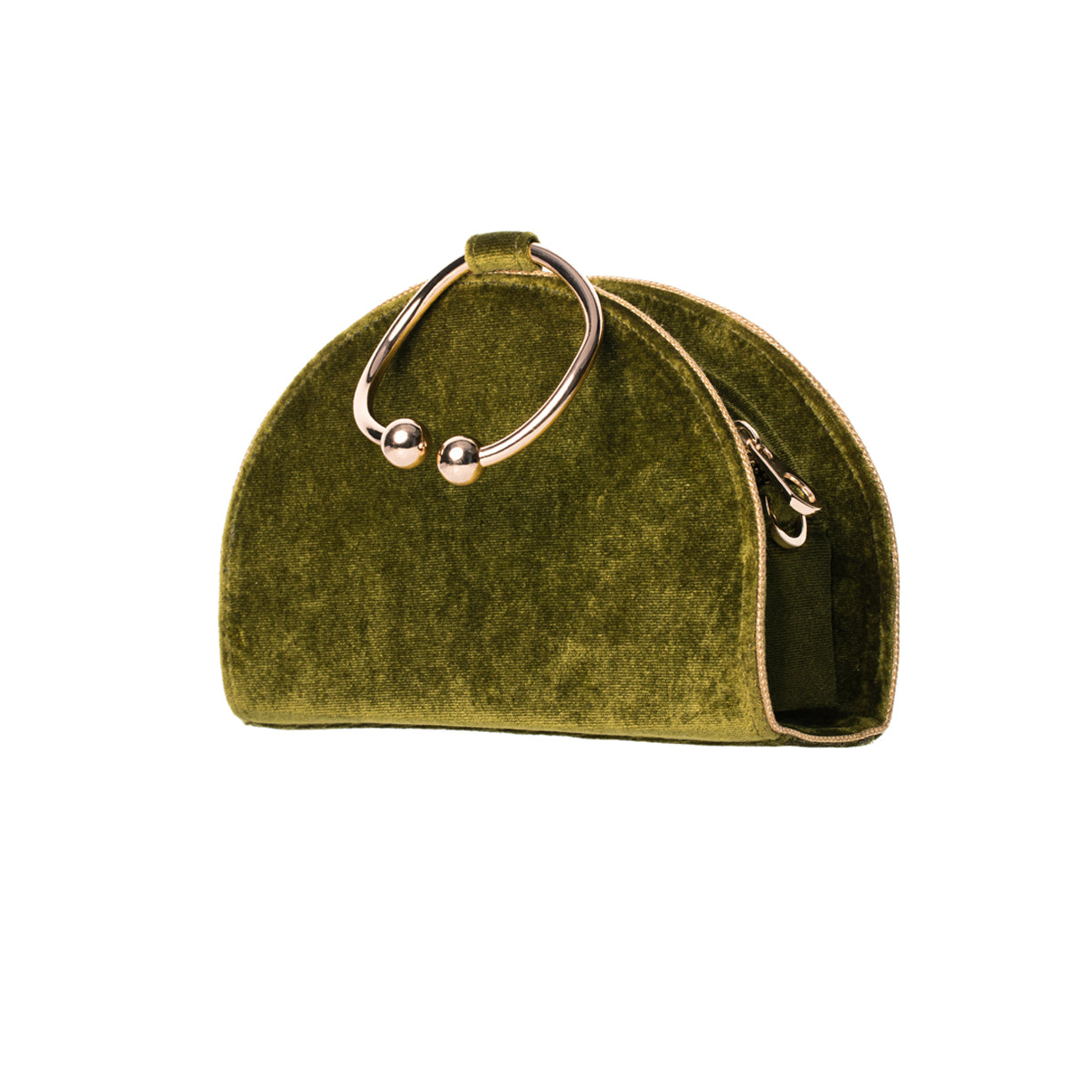 Chelsea Green Velvet Clutch Bag
