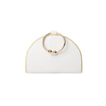 Chelsea White Lambskin Clutch Bag
