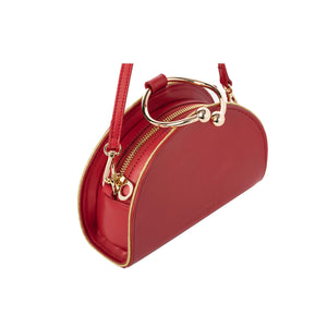 Chelsea Red Lambskin Clutch Bag