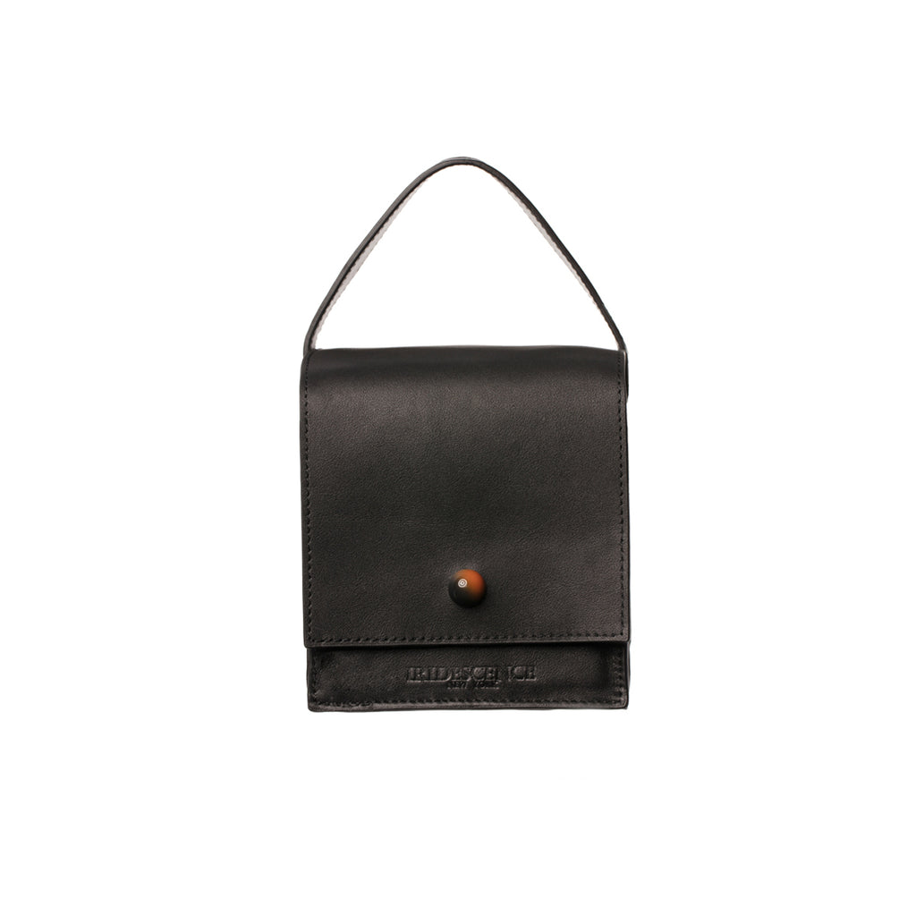 DUMBO Black Leather Top Handle
