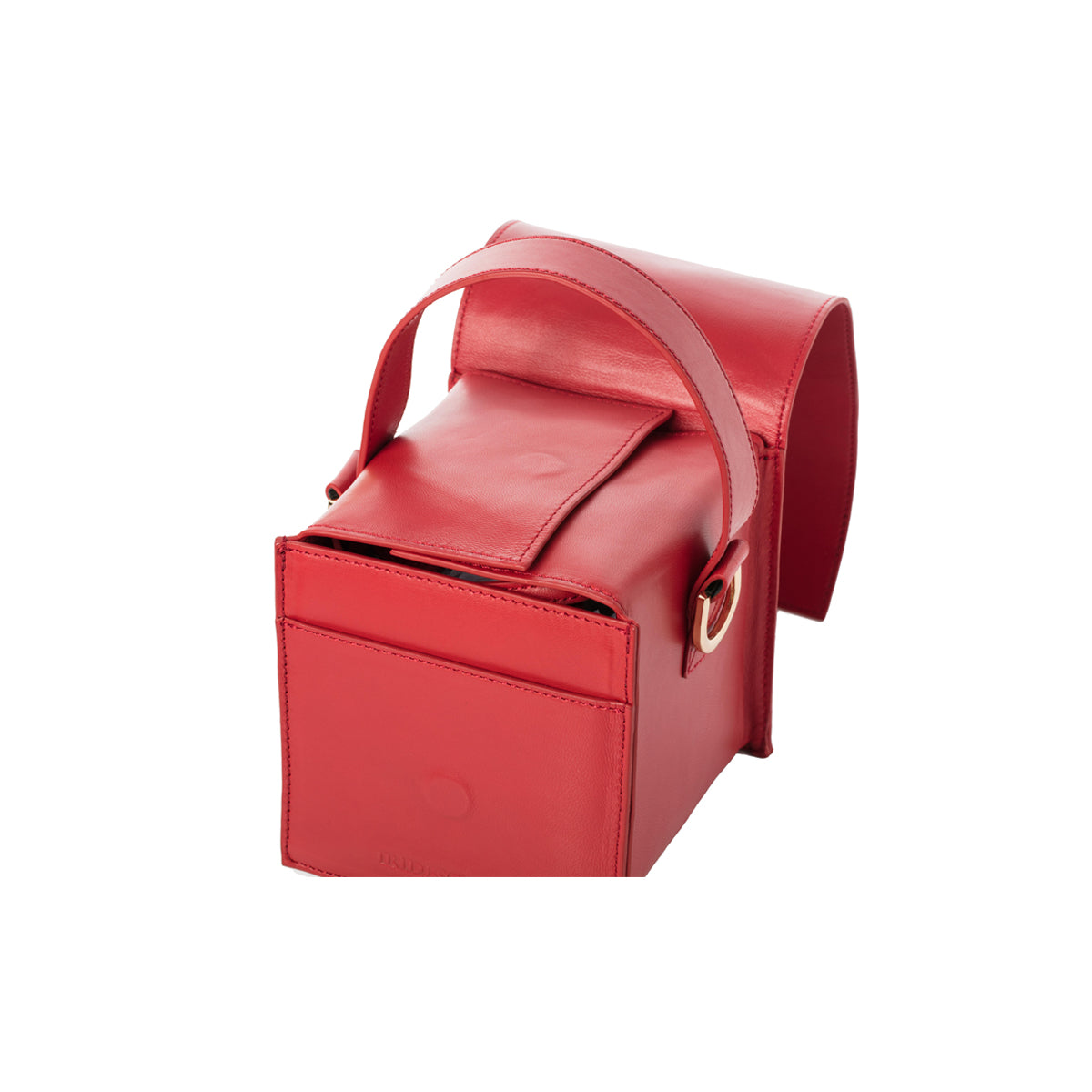 DUMBO Red Lambskin Top Handle