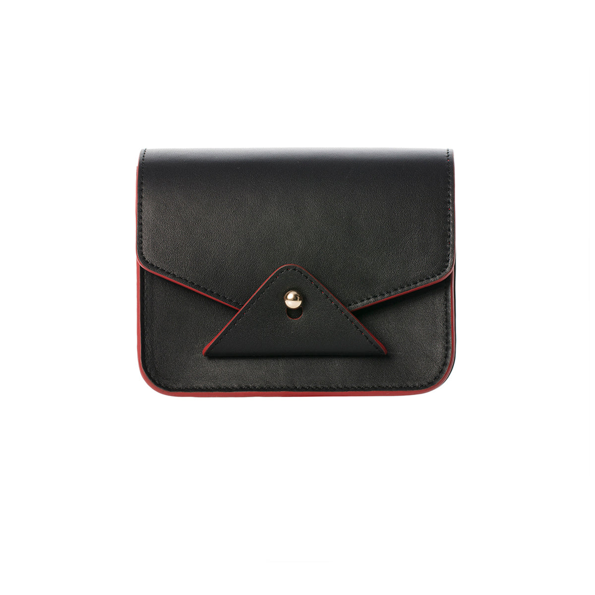 FIDI Black-red Leather Crossbody