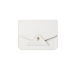 FIDI White Lambskin Crossbody