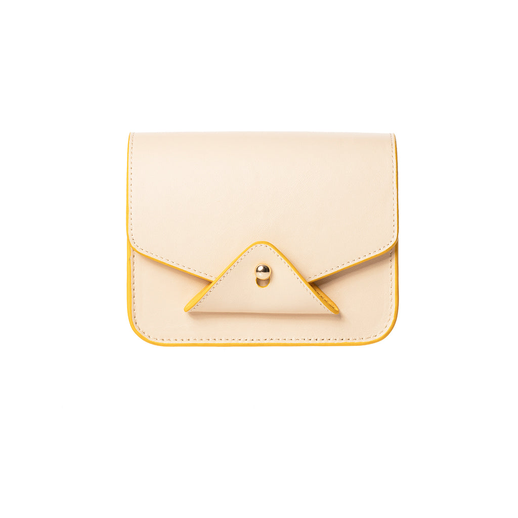 FIDI Beige-yellow Leather Crossbody