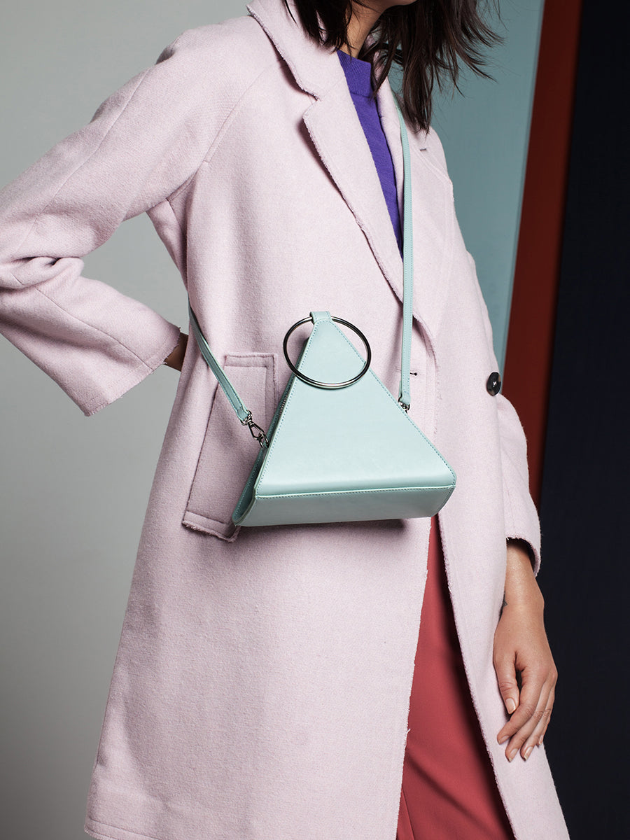 Flatiron Mint Leather Handbag