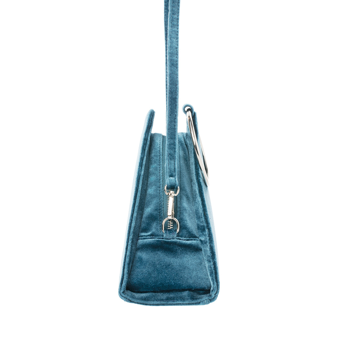 Flatiron Blueberry Twist Velvet Handbag
