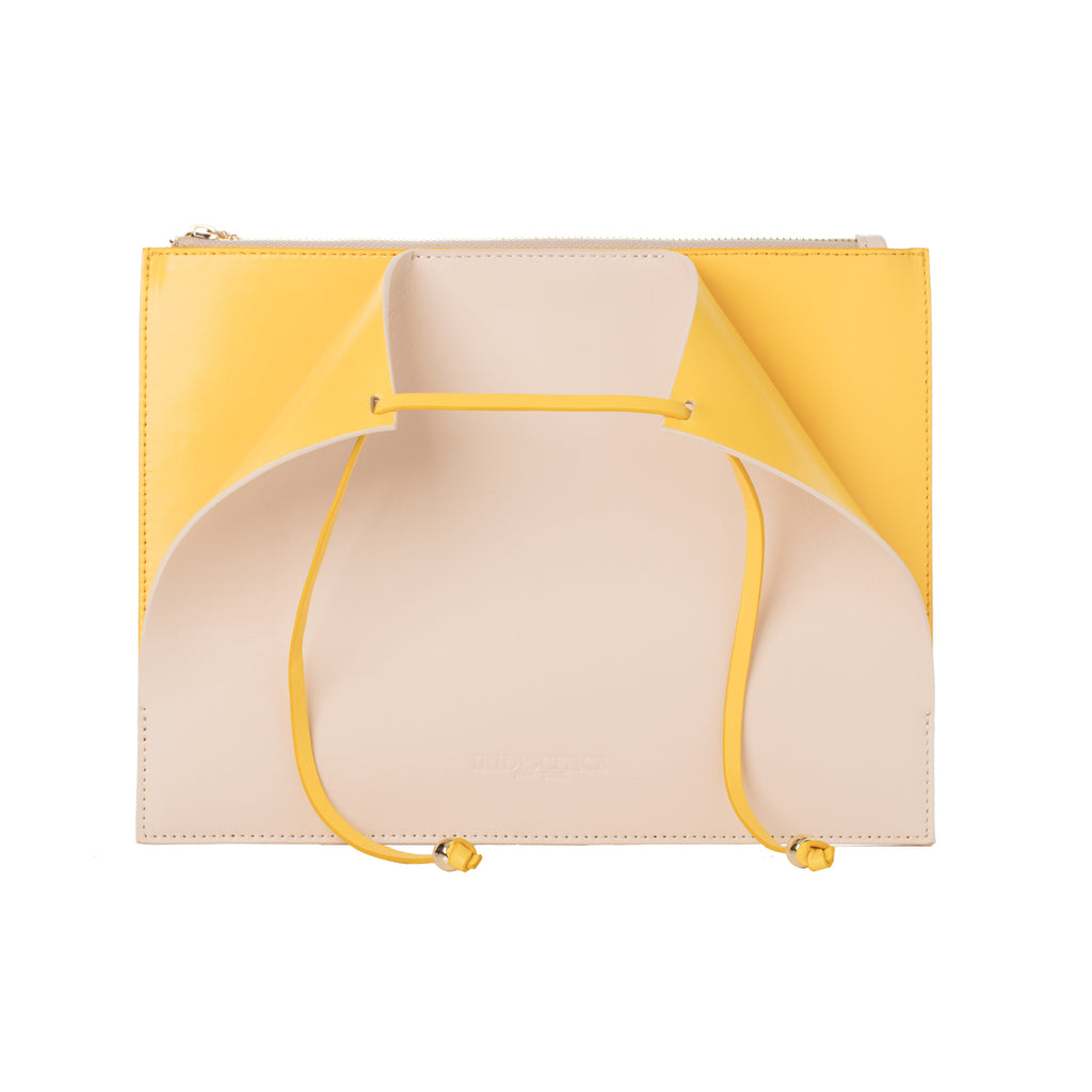 Highline Beige-yellow Lambskin Clutch Bag
