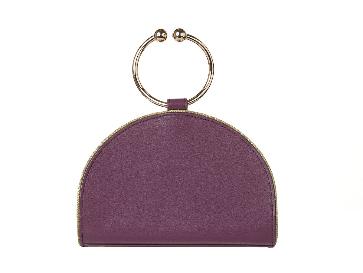 Chelsea Aster Leather Clutch Bag