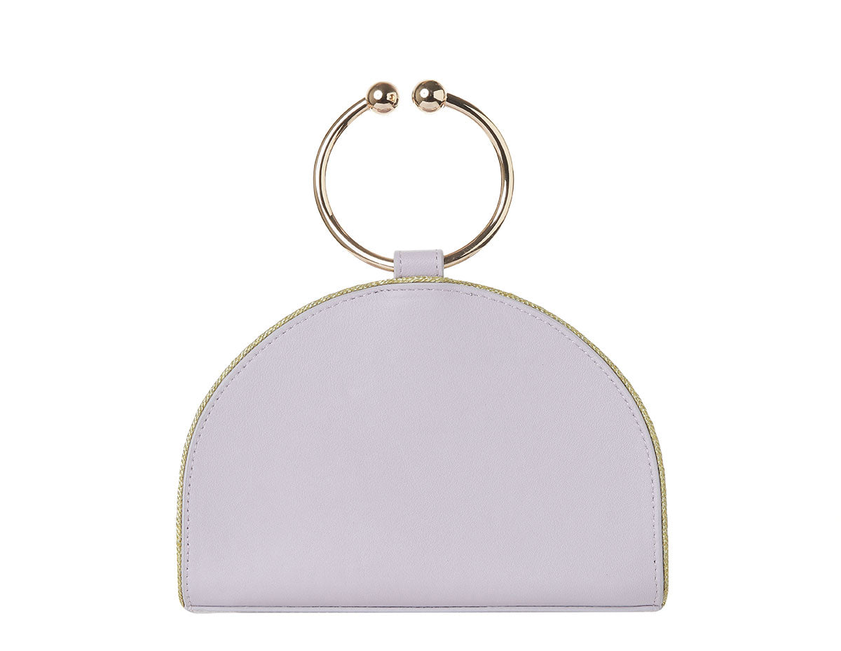 Chelsea Lavender Leather Clutch Bag