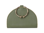 Chelsea Moss Leather Clutch Bag