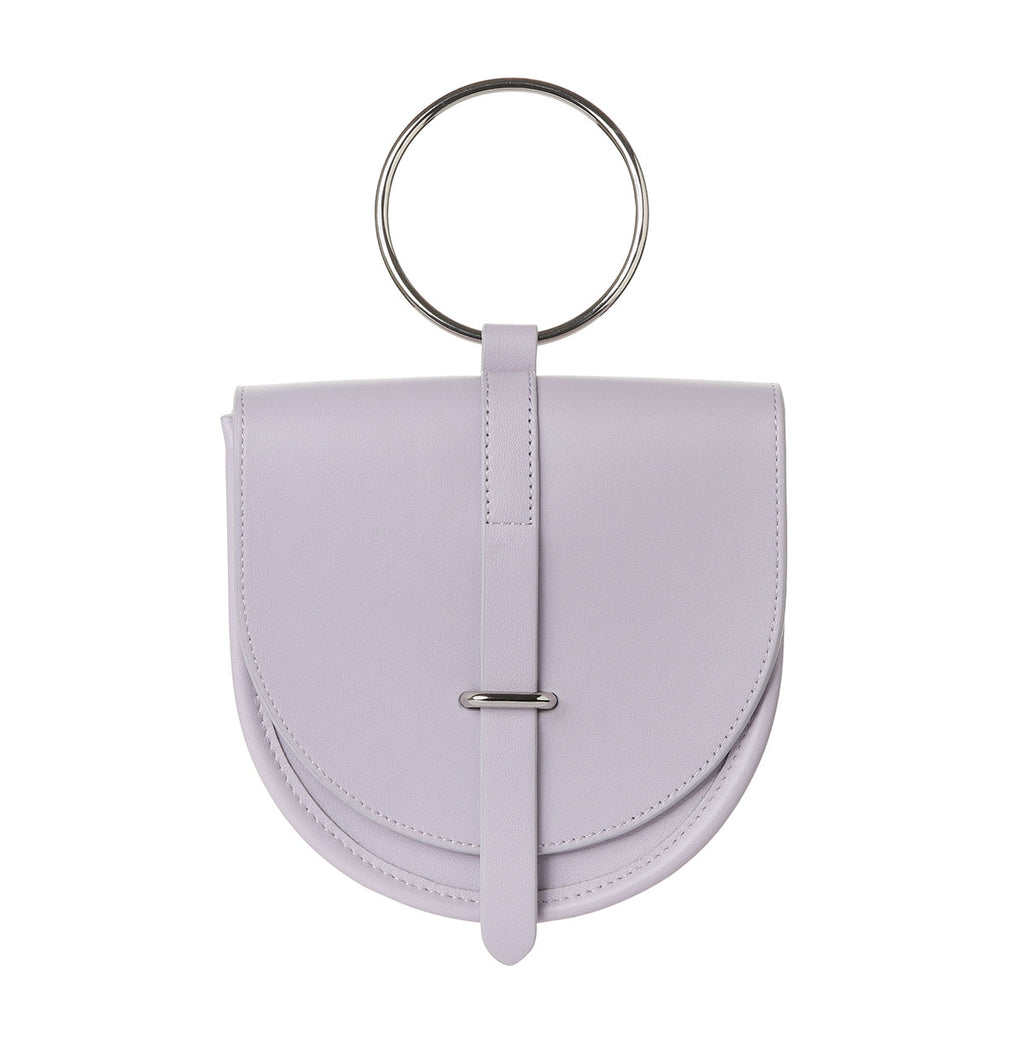 O-Ring Lavender Leather Handbag