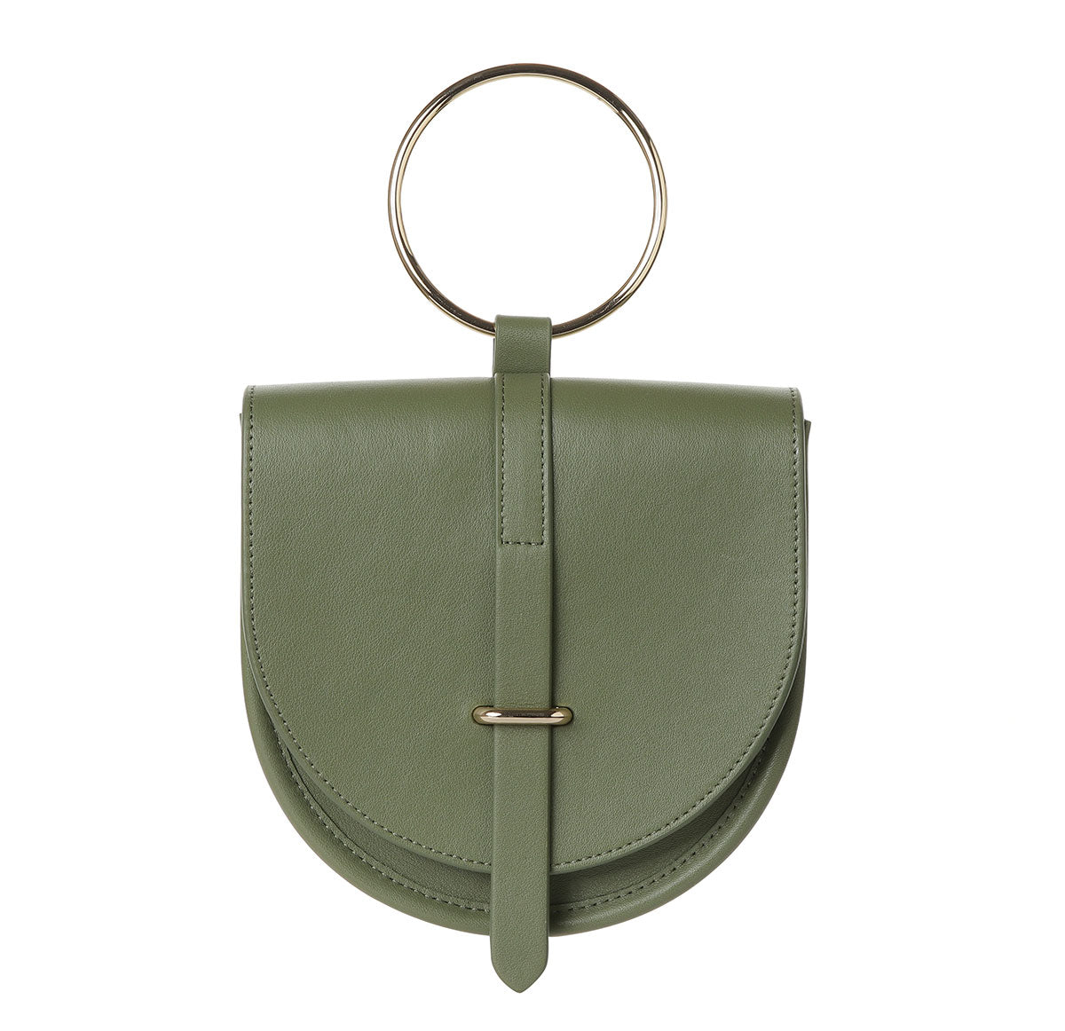 O-Ring Moss  Leather Handbag
