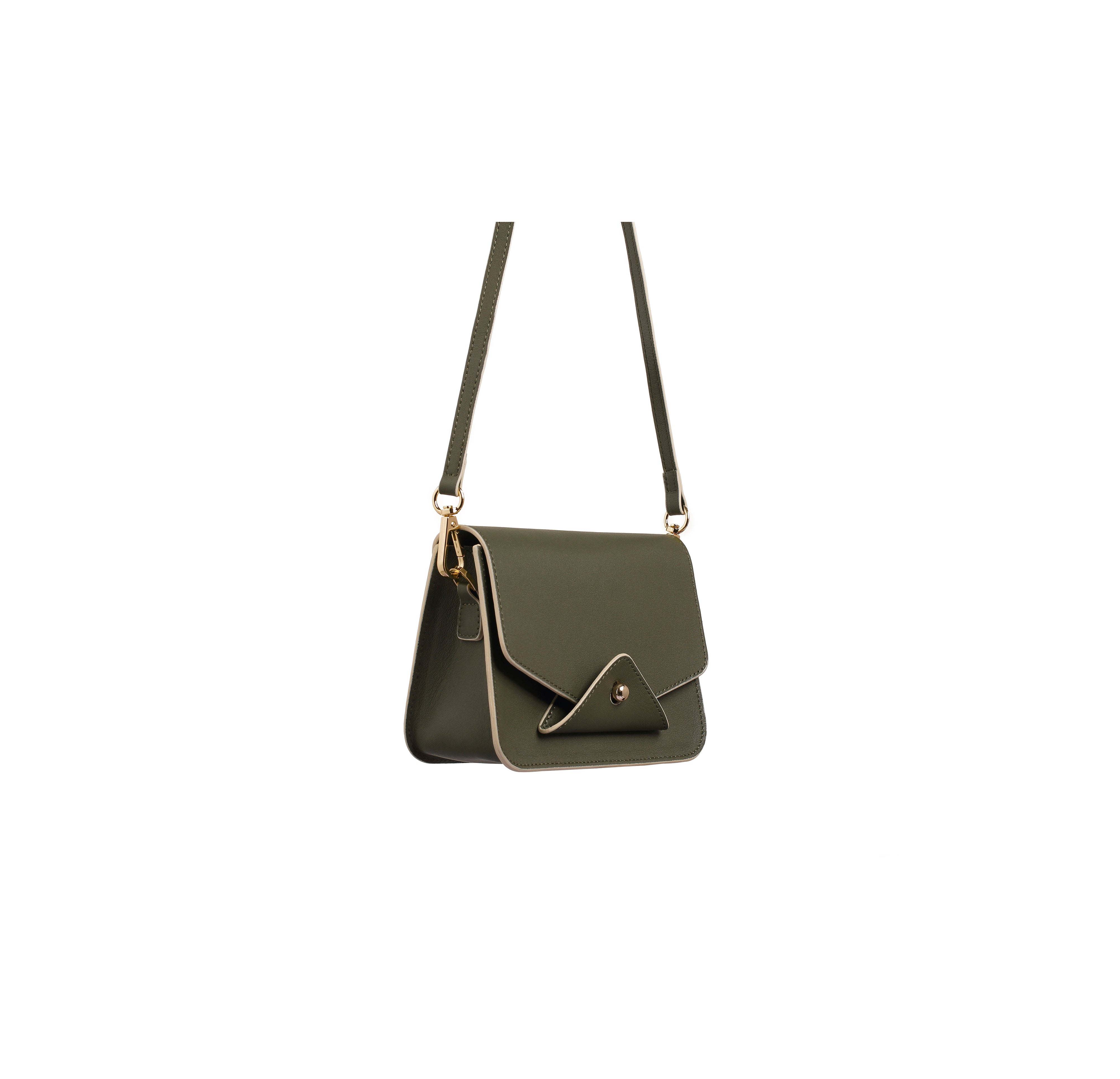ARIEL Olive Leather Crossbody