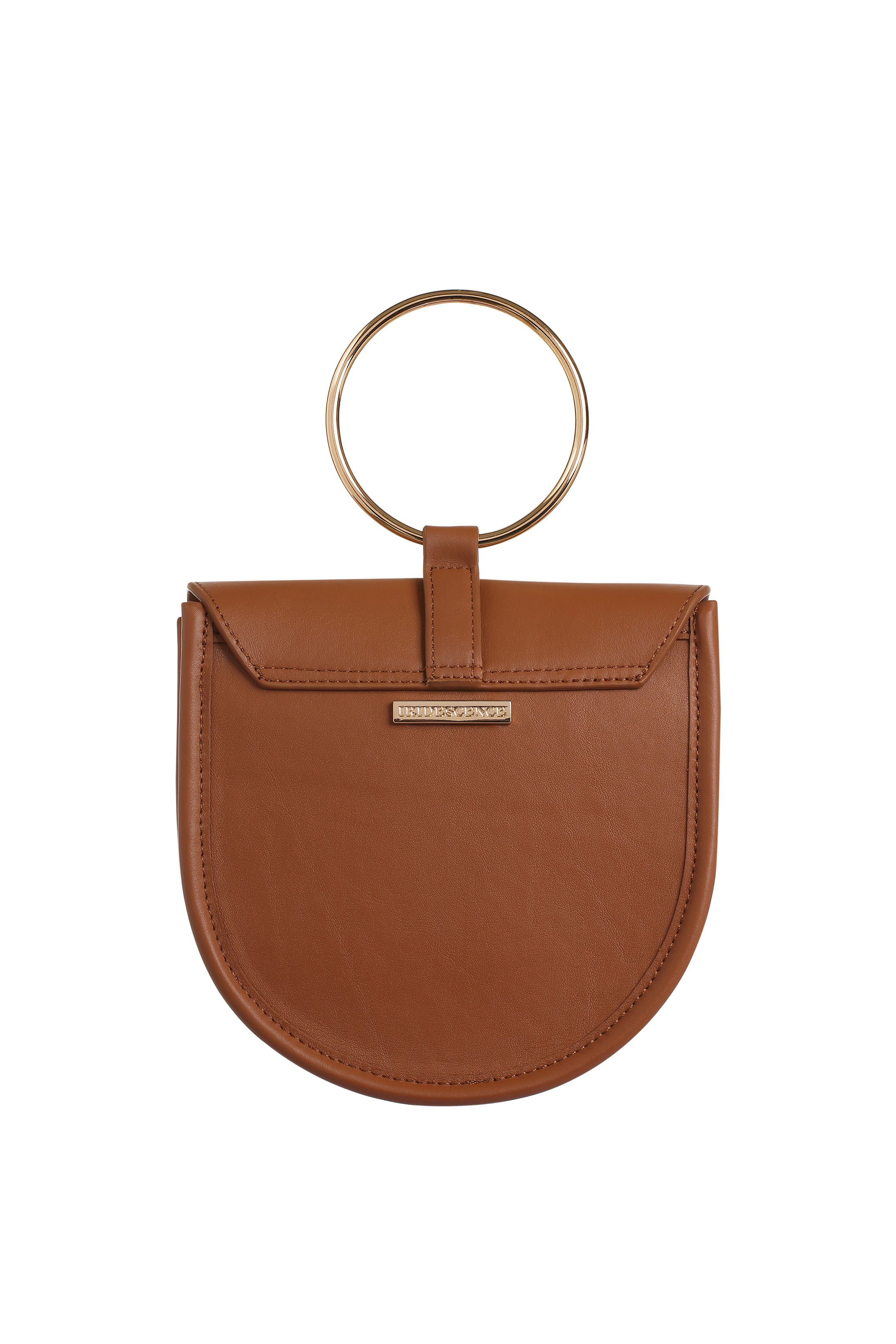 O-Ring Caramel Leather Handbag