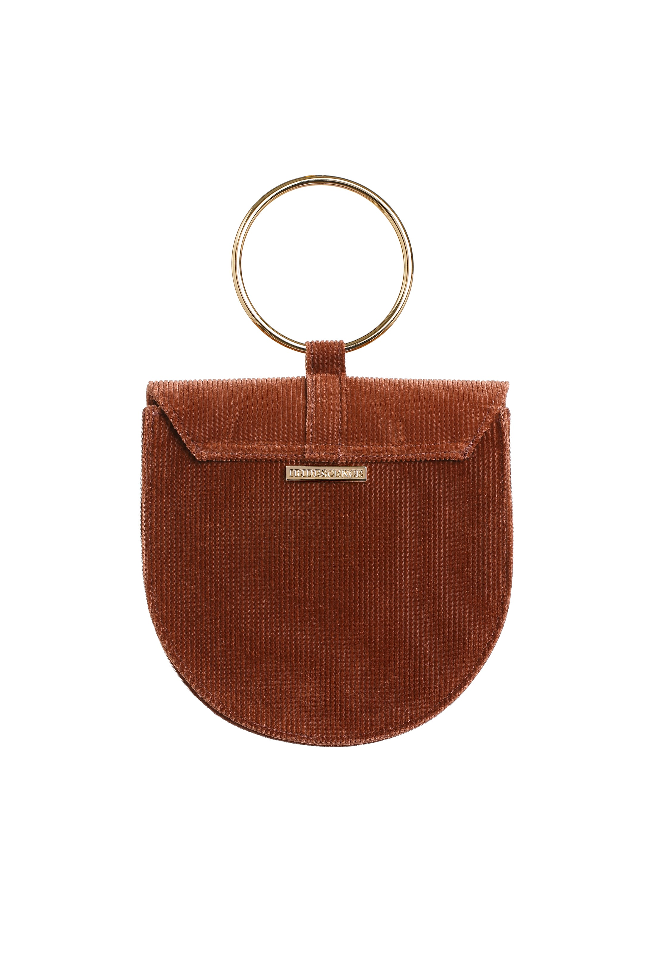 O-Ring Sweet Caramel Burnout Velvet Handbag