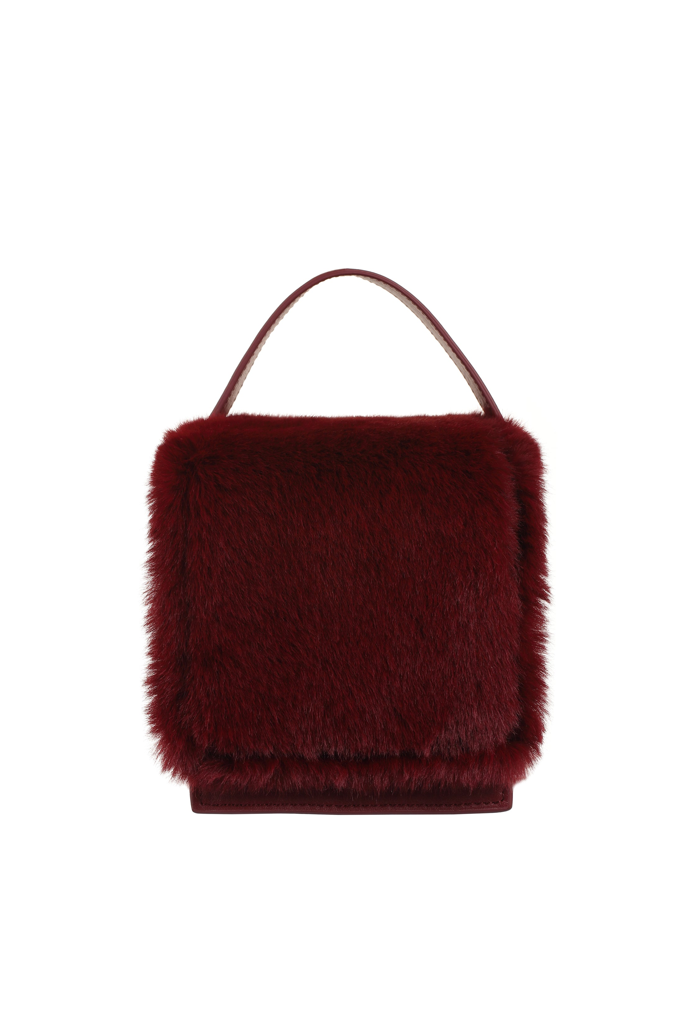 DUMBO Wine Leather & Fur Handle