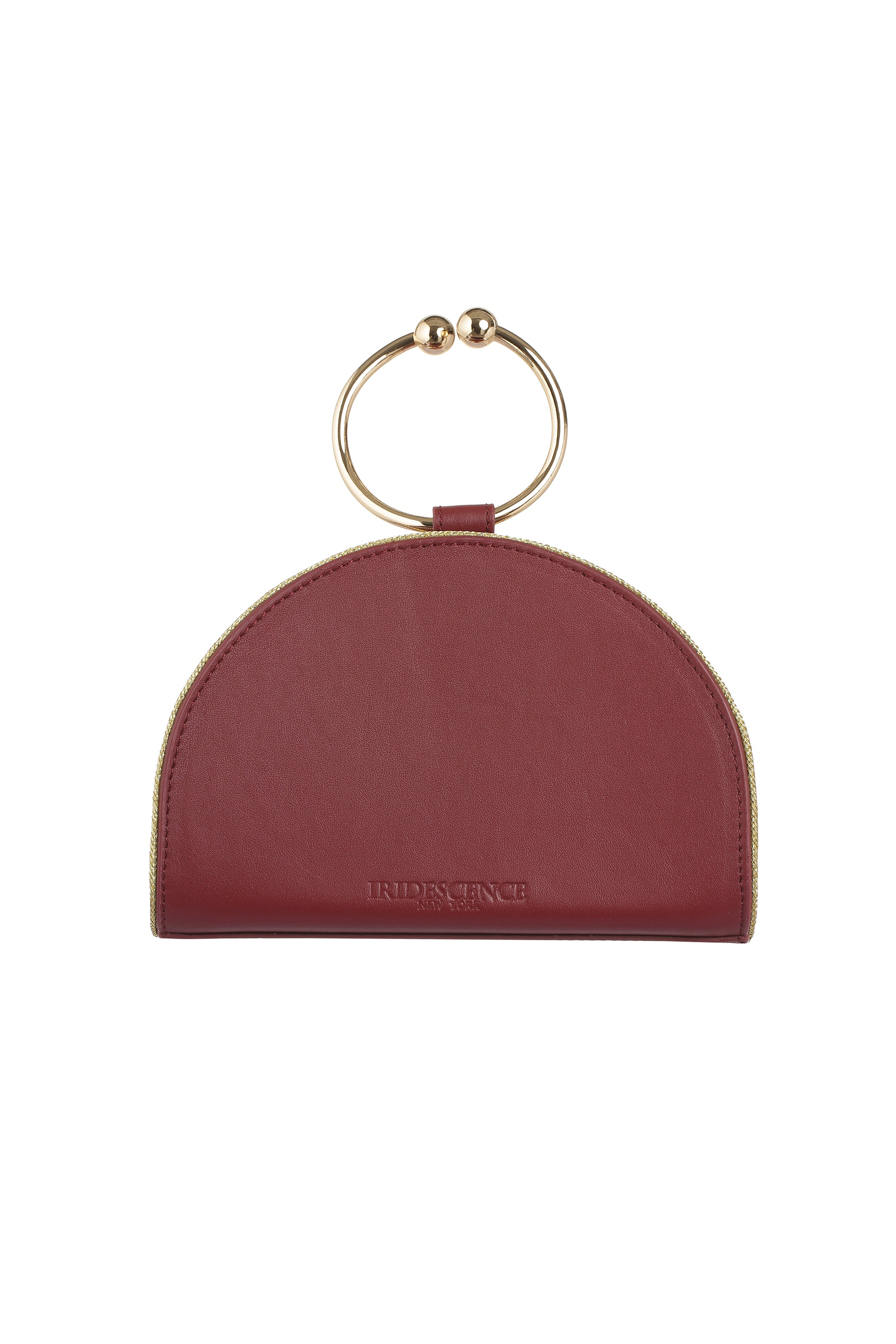 Chelsea Wine Leather Clutch Bag