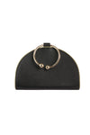 Chelsea Black Leather Clutch Bag