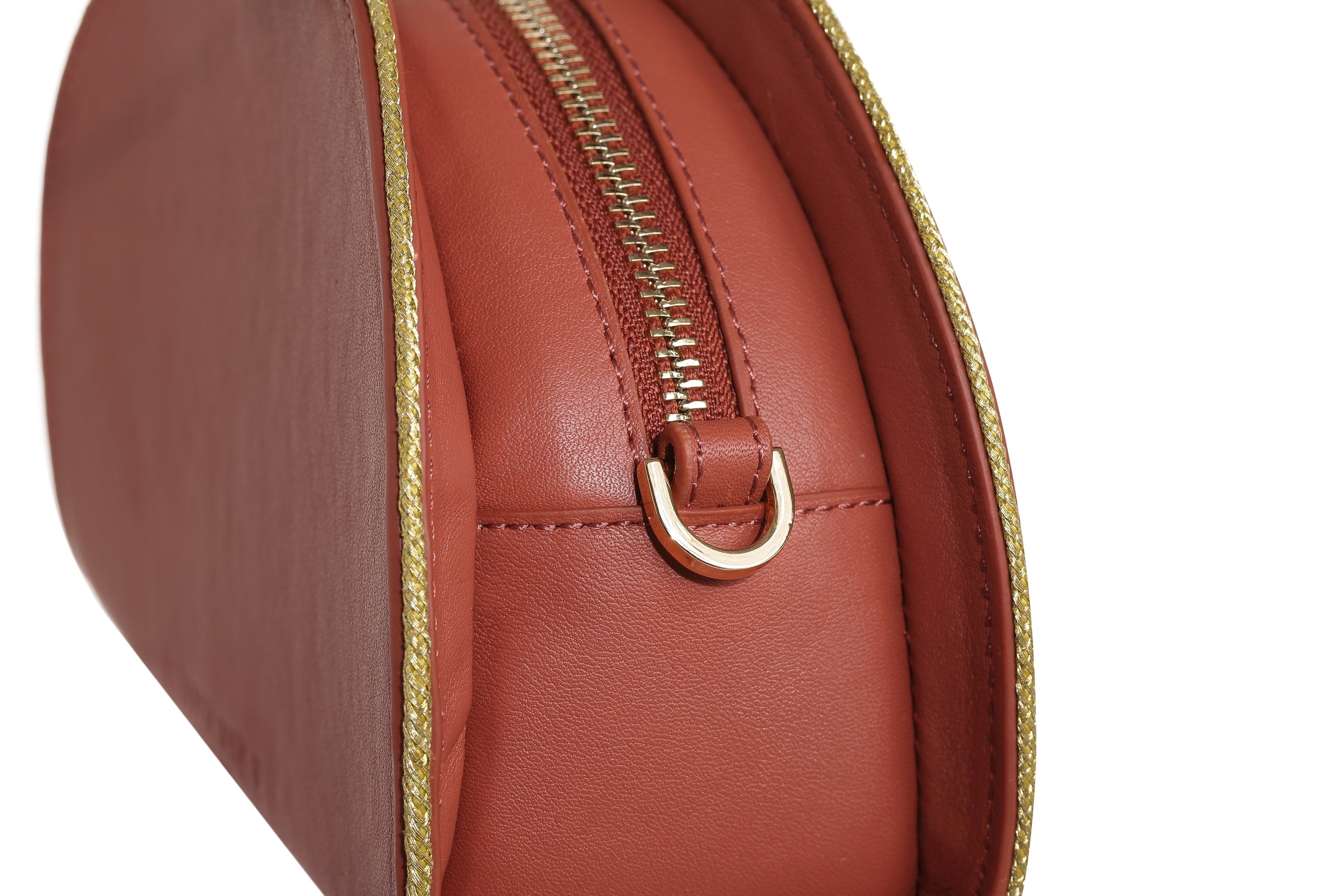 Chelsea Rosewood Leather Clutch Bag