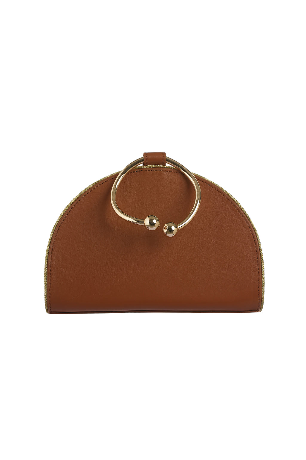 Chelsea Caramel Leather Clutch Bag