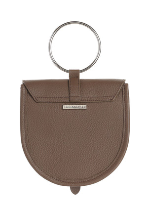 O-Ring  Walnut  Leather Handbag