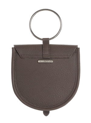 O-Ring  Graphite  Leather Handbag