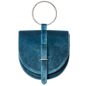 O-Ring Blueberry Twist Velvet Handbag