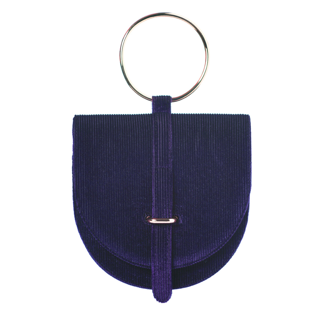 Limited O-Ring Purple Velvet Handbag