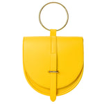 O-Ring Yellow Lambskin Handbag