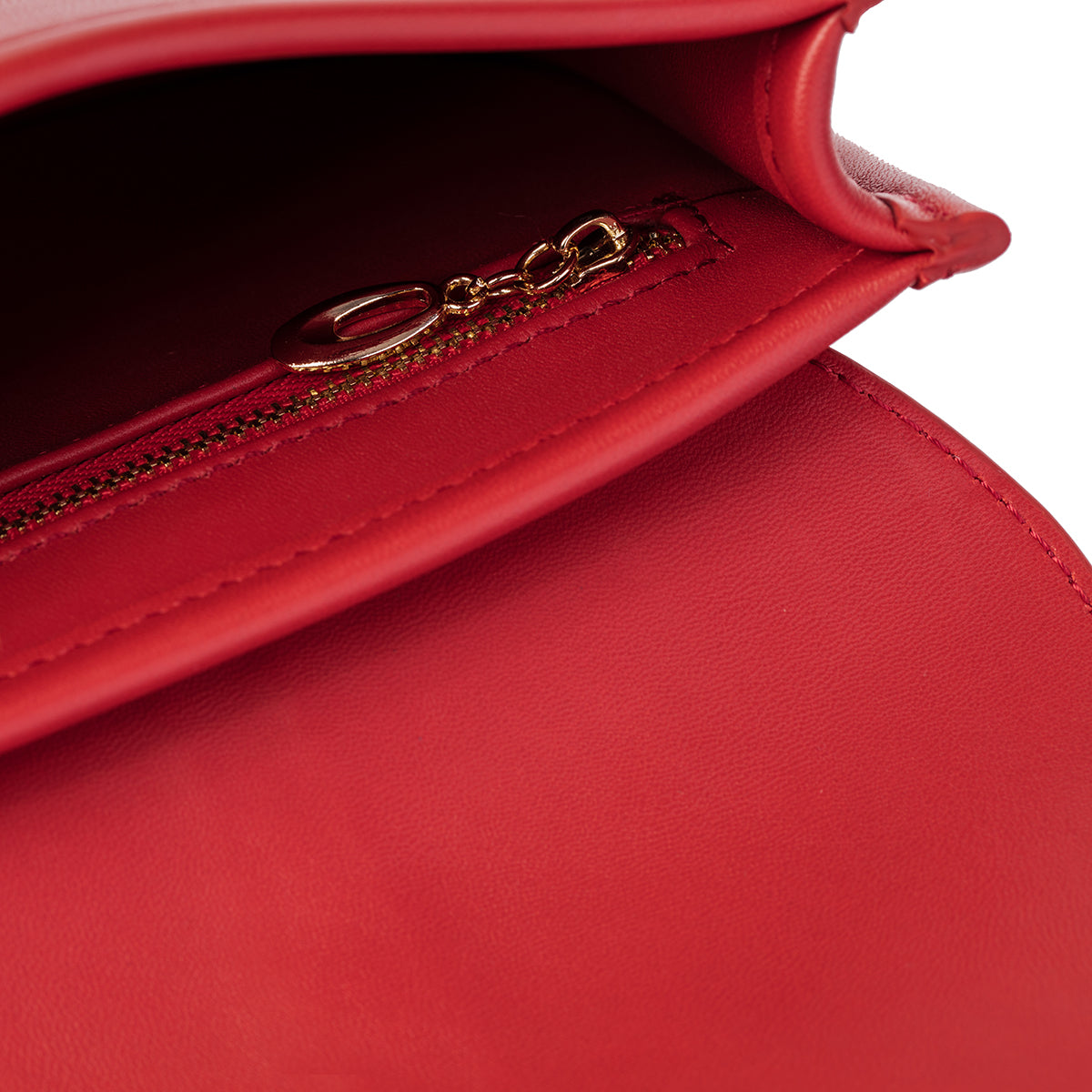 O-Ring Red Lambskin Handbag