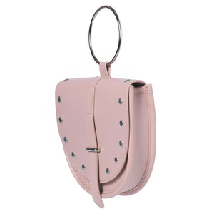Limited O-Ring Pink Lambskin Handbag