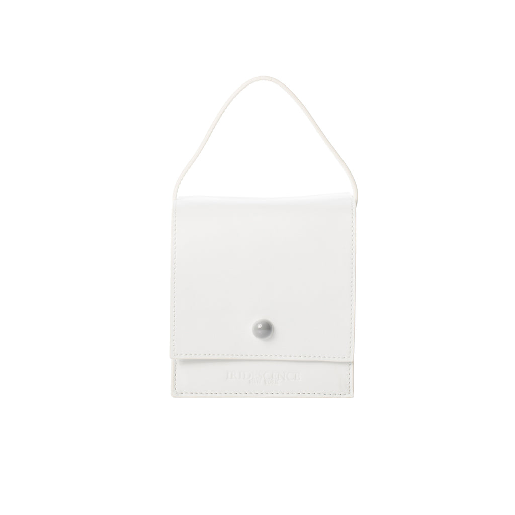 DUMBO White Lambskin Top Handle