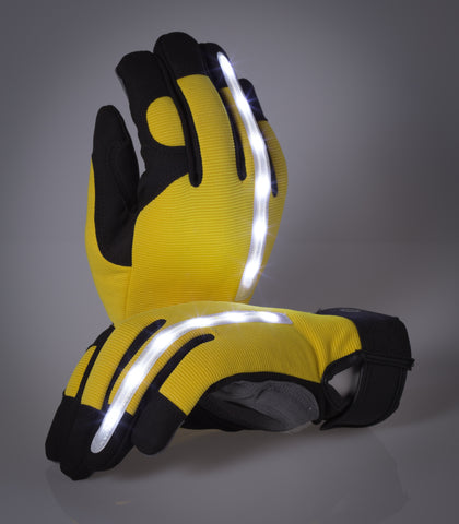 Work Gloves with LED Lights